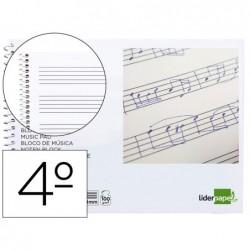 Bloco musica liderpapel quarto 20 folhas 100 gr pentagrama com 4 mm de entrelinhas