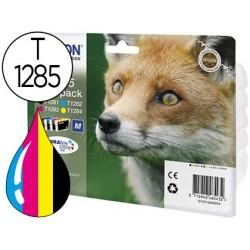 Cartucho de tinta epson s22 sx125/130/420w/425w office bx305 t1285 multipack 4 cores