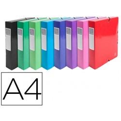 Pasta de projetos exacompta iderama cartao lustrado plastificado din a4 lombada 80 mm cores sortidas