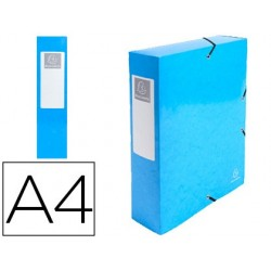 Pasta de projetos exacompta iderama cartao lustrado plastificado din a4 lombada 80 mm azul claro