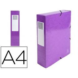 Pasta de projetos exacompta iderama cartao lustrado plastificado din a4 lombada 80 mm violeta