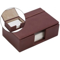 Suporte cartoes de visitas fabricado em madeira e forrado em polipele 11