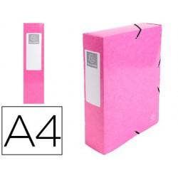 Pasta de projetos exacompta iderama cartao lustrado plastificado din a4 lombada 80 mm rosa