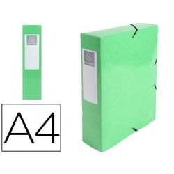 Pasta de projetos exacompta iderama cartao lustrado plastificado din a4 lombada 80 mm verde anis