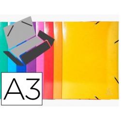Pasta exacompta ideramacom elasticos em cartao 600 gr tres abas din a3 cores sortidas