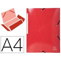 Pasta exacompta iderama com elasticos em cartao laminado 425 gr tres abas din a4 vermelha