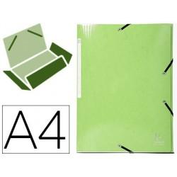 Pasta exacompta iderama com elasticos em cartao laminado 425 gr tres abas din a4 verde anis