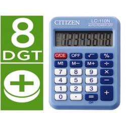 Calculadora citizen de bolso lc-110 azul de 8 digitos