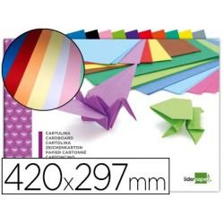 Bloco trabalhos manuais liderpapel cartolina din a3 10 folhas 180 gr cores sortidas