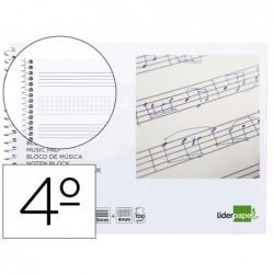 Bloco musica liderpapel pentagrama 3mm mais quadricula de 4mm para anotacoes quarto 20 folhas 100 gr
