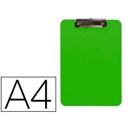 Porta notas q-connect plastico din a4 verde 2