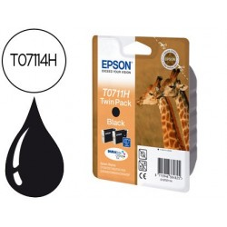 Cartucho de tinta epson t0711h dupla pack d120 / sx205 / 215 / 218 / 405 / 415 / 515w / 600fw / 610fw /