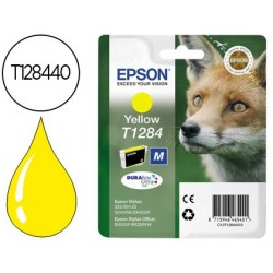 Cartucho de tinta epson stylus t1284 amarelo s22 / sx125 / sx420w / 425w / office bx305f capacidade