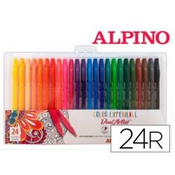 Marcador alpino dual artist color experience caixa de 24 unidades cores sortidas