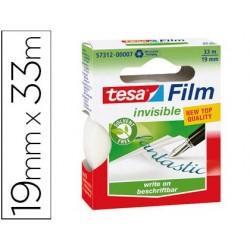 Cinta adhesiva tesa film invisible 33x19 mm ecologica