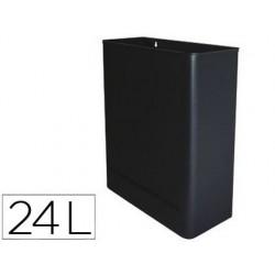 Cesto sie de papeis metalico de parede 24l. 460x350x150 mm preto