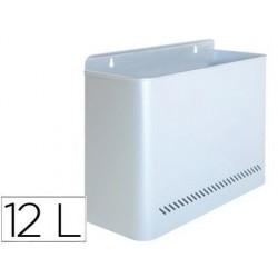 Cesto de papeis sie 99 metalico de parede prata capacidade 11 litros 28