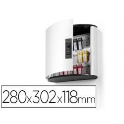 Armario metalico porta chaves durable 280x302x118 mm aluminio combinacao numerica para 18 chaves key clip