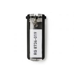 Chaveiro porta etiqueta durable key clip preta