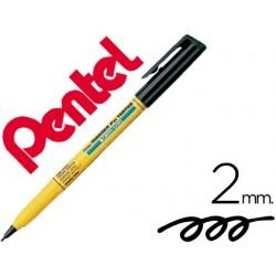 Marcador pentel nm10 p/tecido preto