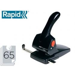 Furador rapid hdc65 fashion metalico/abs cor preta capacidade 65 folhas