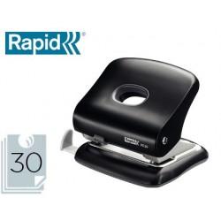 Furador rapid fc30 plastico cor preta capacidade 30 folhas
