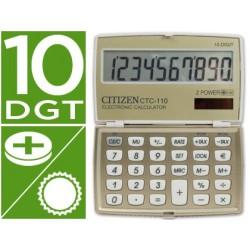 Calculadora citizen de bolso ctc-110 10 digitos creme champanhe