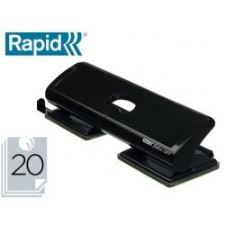 Furador rapid fashion fc20/4 metalico cor preta 4 puncoes capacidade 20 folhas