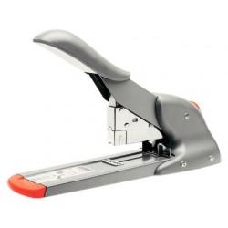 Agrafador rapid fashion hd110 prata/laranja capacidade 110 folhas usa agrafes 9/8-14 e 23/8-15