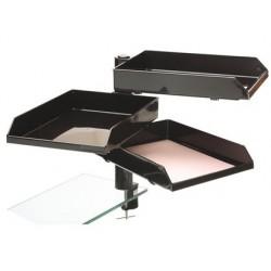 Suporte giratorio arquivo 2000 din a4 e folio cor preto gira 360 graus com suporte de plastico e metal
