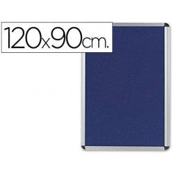 Vitrina de anuncios q-connect mural grande feltro azul 120 x 90 cm