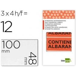 Etiquetas liderpapel urgente 4folhas com 3 etiquetas 100 x 48 mm