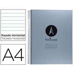 Caderno espiral navigator microperfurado a4 80 folhas pautado papel de 90grs