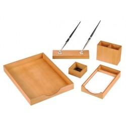 Conjunto de secretaria em madeira