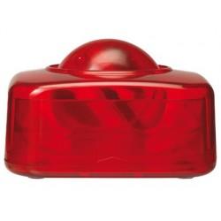 Porta clips q-connect com bola dispensadora giratoria vermelha