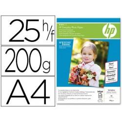 Papel hp fotografico semi-gloss din a4 de 25 folhas 200 gr