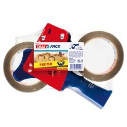 Porta rolo tesa para pack para rolos de 66mtx 50mm2 rolos fita castanha