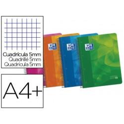 Caderno espiral oxford europeanbook4 capa polipropileno din a4 90g 120f pautado 50% folhas gratis