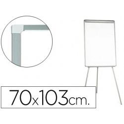 Quadro branco q-connect com tripe 95x65 cm lacado magnetico
