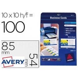 Cartoes de visita avery imprimeveis para laser 200gr - 100 unidades