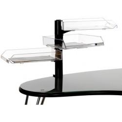 Suporte com 3 tabuleiros transparentes