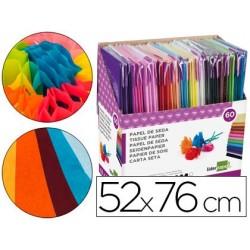 Expositor papel seda liderpapel. 60 bolsas de 5 unidades cores sortida