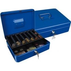 Cofre com bandeja para moedas q-connect 300x90x240 mm azul