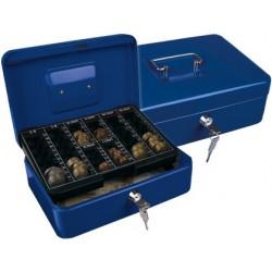 Cofre com bandeja para moedas q-connect 250x90x180 mm azul