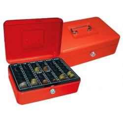 Cofre com bandeja para moedas q-connect 250x90x180 mm vermelho
