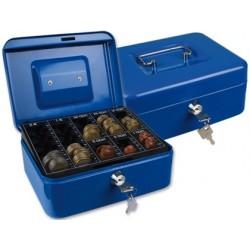 Cofre com bandeja para moedas q-connect 200x90x160 mm azul