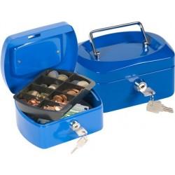 Cofre com bandeja para moedas q-connect 152x80x115 mm azul