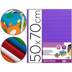 Cartao ondulado liderpapel 320gr 50x70 cm violeta