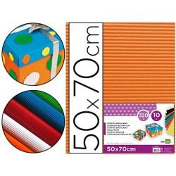 Cartao ondulado liderpapel 320gr 50x70 cm laranja