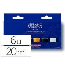 """Pintura acrilica l&b fine conjunto \""""los imprescindibles\"""""""" caixa de 6 cores sortidas tubo de 20 ml"""""""